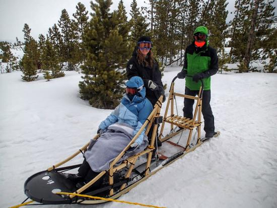 Snow Mountain Ranch: Dogsled. Fun for all ages, but have to reserve ahead of time