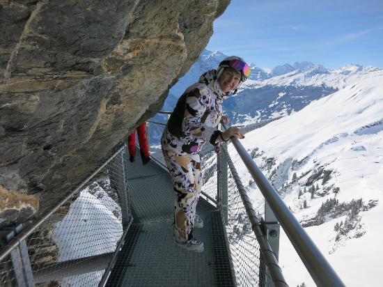Grindelwald, Svizzera: Подвесной мост на Фирсте