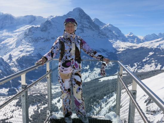 Grindelwald, Svizzera: На подвесном мосту на Фирсте