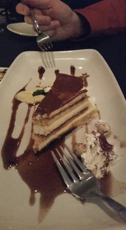 Plateau at Wildhorse Resort: Tiramisu (the English pudding I mentioned is on the upper left of the plate)