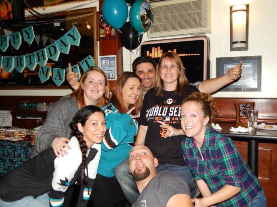 Route 92 Sports Bar : Celebrating Matt's Birthday and the San Jose Sharks at Route 92
