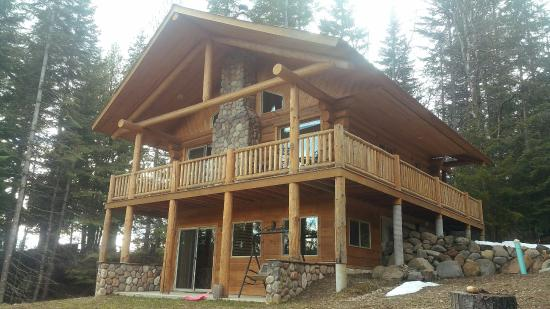 Sandpoint, ID: Rear view of cabin