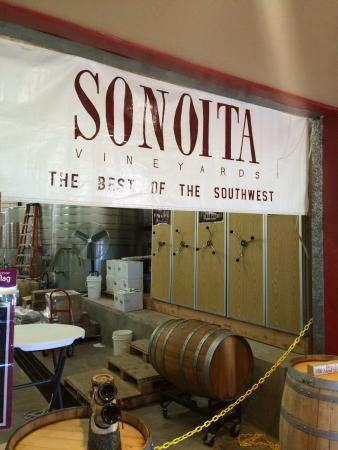 Sonoita Vineyards: the winery in the back