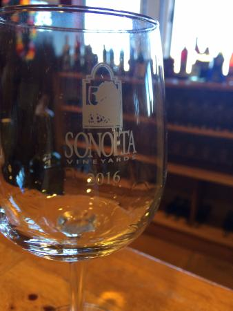 Elgin, AZ: my very own wine glass from Sonoita winery
