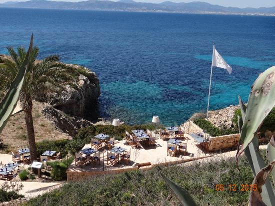 drinks at the sea club picture of cap rocat cala blava tripadvisor. Black Bedroom Furniture Sets. Home Design Ideas