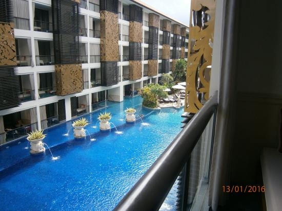 looking down from our balcony picture of the trans resort bali rh tripadvisor com