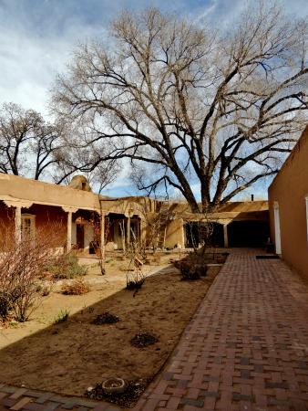Corrales, NM: View of the courtyard