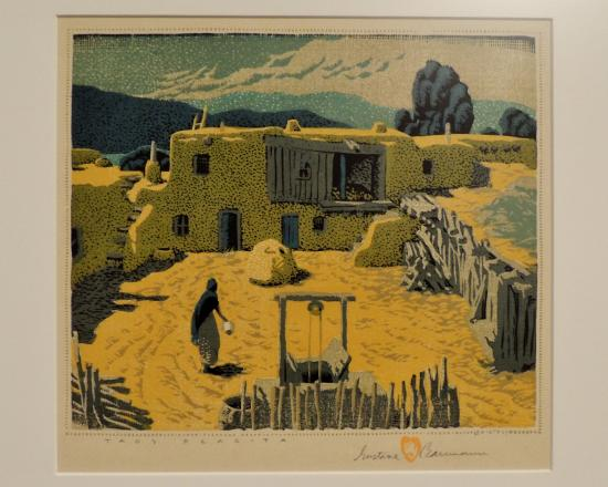 gustave baumann s colored woodcut print from his taos collection rh tripadvisor co za