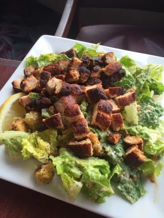 Ocean Shores, WA: Caesar salad with Blackened Chicken