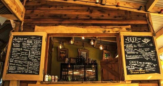 T.O.A.D Hall Store & Cafe: TOAD Hall outdoor bar