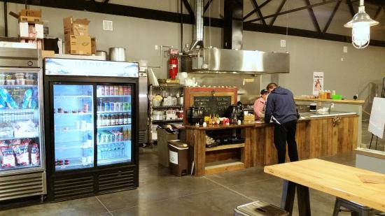 Hooked Seafood Co: Meal ordering and check out area.