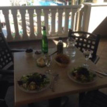 Marylanza Suites & Spa: And another lunch our lovely balcony F216