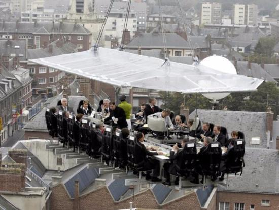 Diner met uitzicht over Made