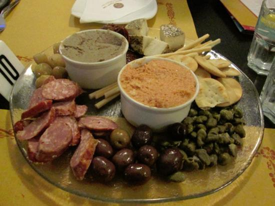 Milk and Coffee: A starter to share: Maltese platter (cold meats & dips etc)