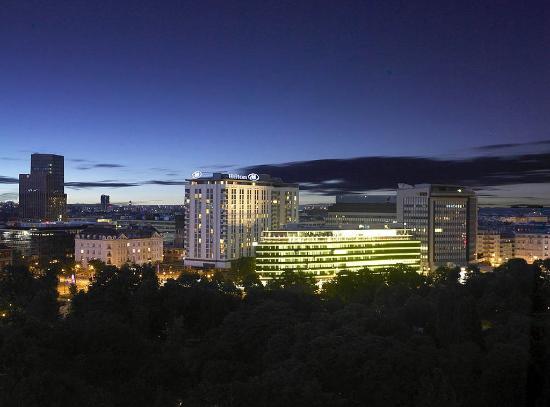 Hilton Vienna Exterior By Night