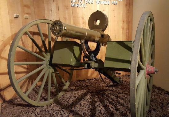 Fort Riley, แคนซัส: 1883 Gatling gun, used in the Indian Wars