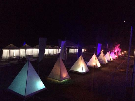 some unique tent tables at the restaurant picture of marbela beach rh tripadvisor ca