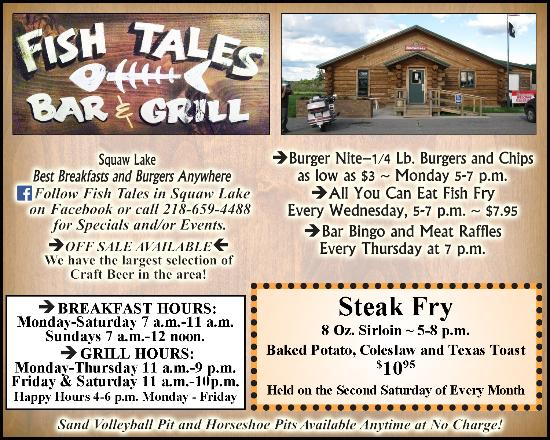 Squaw Lake, MN: Weekly Specials