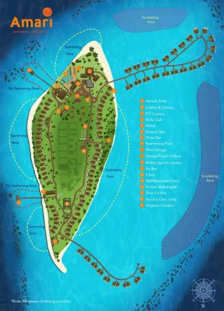 Resort map Picture of Amari Havodda Maldives South Huvadhoo