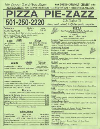 "Pizza Pie-Zazz: 521 Wilburn Road; Suite ""C"", Heber Springs, AR 72543"