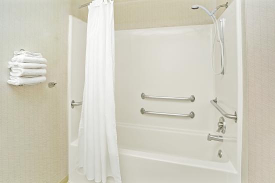 Microtel Inn & Suites by Wyndham Raleigh Durham Airport: Single queen handicap bathroom