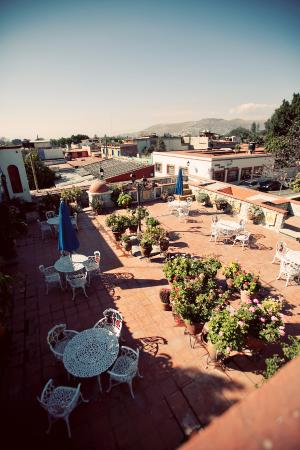 Hotel Casa Arnel: rooftop patio - perfect for breakfast or evening beer