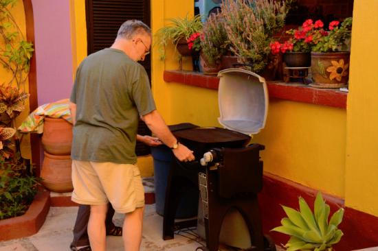 New and easy-to-use grill available for guests at Ajijic Suites on Hidalgo