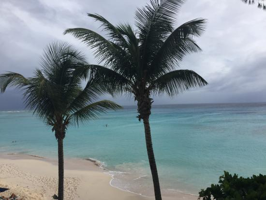 Worthing, Barbados: The beach view from our balcony.