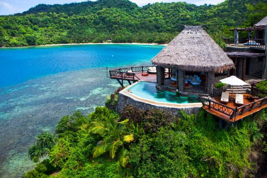 Laucala Island Resort : Peninsula Villa Aerial View