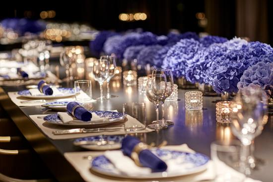 harmony room dinner set up - picture of conservatorium hotel