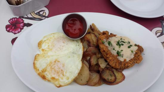 Chicken Fried Steak Breakfast At Carnation Cafe Picture Of Carnation Cafe Anaheim Tripadvisor