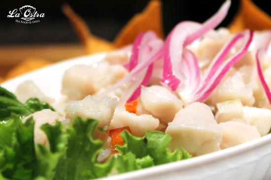 La Ostra Sea Food & Grill: Ceviche de Corvina