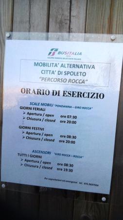 Percorso Meccanizzato Ponzianina-Rocca: Scala mobile