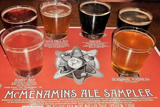 McMenamins Old St. Francis School: tasting flight