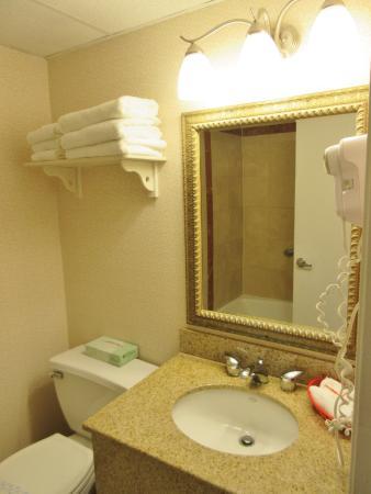 Super 8 Sturbridge: Basic size bathroom