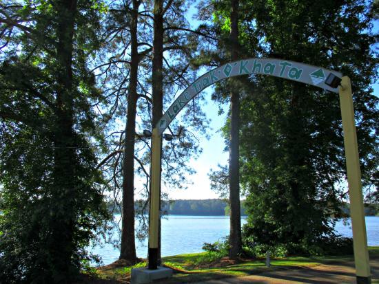Lake Tiak-O'Khata Resort: Lake Tiak-O'Khata Welcome Sign