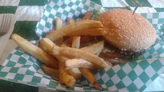 Clark's Restaurant: Burger and fries