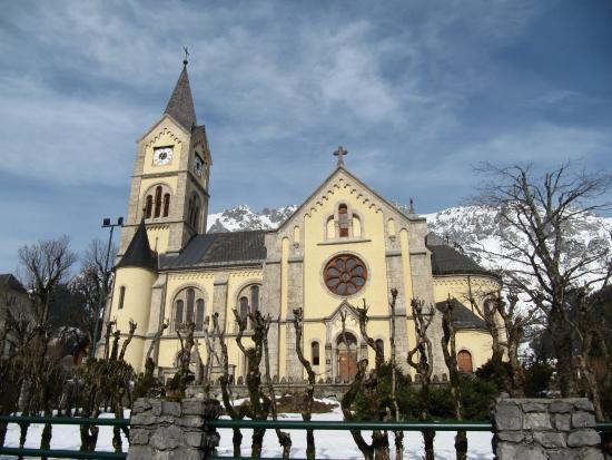 Рамзау-ам-Дахштайн, Австрия: Церковь зимой