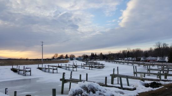 Warroad, MN: Docks, March 2016