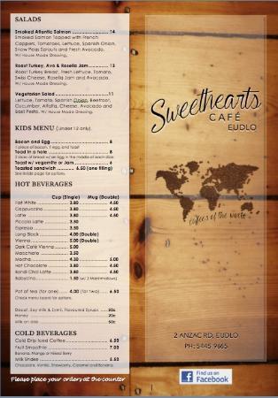 Sweethearts Cafe: Menu 2