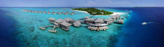 Olhuveli Island: Arial view of Six Senses Laamu