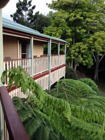 Avocado Grove B&B: The verandah off the rooms is a great place to relax.