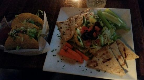 Pig 'n' Whistle on 2nd : Outstanding humus with veggies and tacos