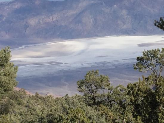 Death Valley National Park, CA: View of salt flats from Wildrose Saddle - on way to peak.