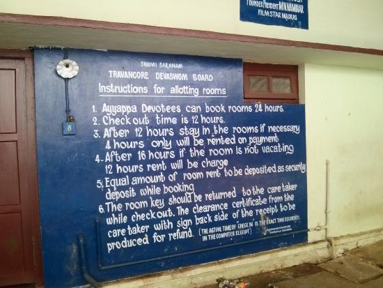 Rooms in sabarimala