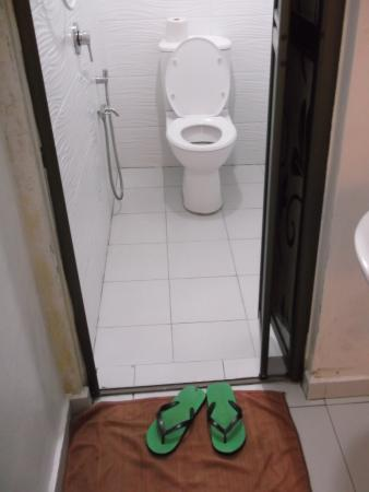 White Hotel : Single room with large bathroom.