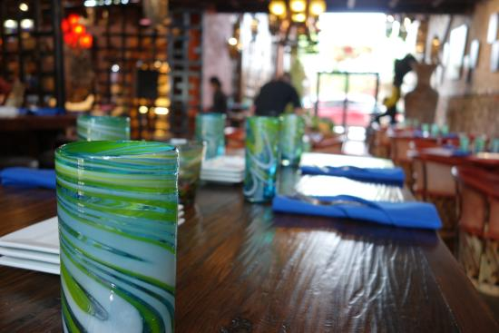 restaurant decor with mexican blown glass wood tables and equipale rh tripadvisor com