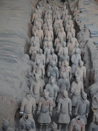 The Museum of Qin Terra-cotta Warriors and Horses: serried ranks of the Terracotta