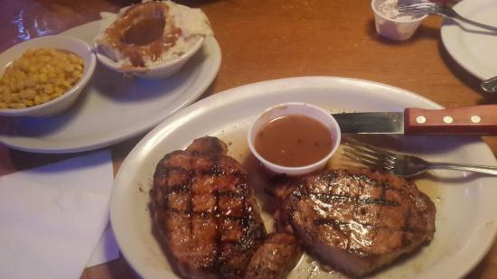 Texas Roadhouse: This is the best food and they make it the way you like it. I don't use alott of seasoning and t