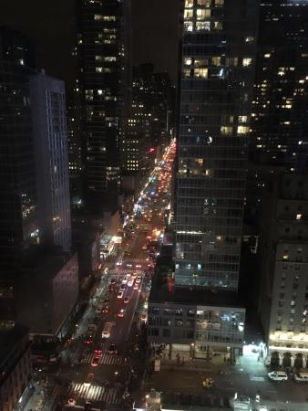 Nighttime View From The Room Overlooking 8th Ave Picture Of Row Nyc Hotel New York City Tripadvisor